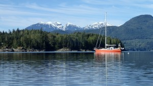 Anchored on the beautiful BC Coast #discoverbc